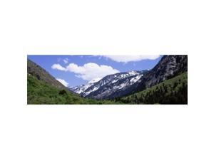 Panoramic Images PPI56550L Clouds over mountains  Little Cottonwood Canyon  Salt Lake City  Utah  USA Poster Print by Panoramic Images - 36 x 12