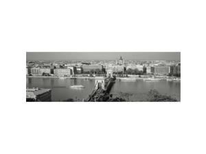 Panoramic Images PPI59045L Chain Bridge Over The Danube River  Budapest  Hungary Poster Print by Panoramic Images - 36 x 12