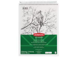 Wirebound Sketchbook 9X12 Derwent Academy 70 Pages
