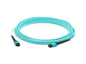 AddOn ADD-MPOMPO-20M5OM4 65.62 ft. Aqua MPO/MPO Female to Female Crossover OM4 12 Fiber LOMM Patch Cable