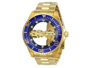 Invicta 886678298792 Mens 24695 Pro Diver Mechanical Multifunction Blue Dial Watch