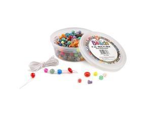 (5 Pk) Bucket O Beads 4Oz Multi-Mix