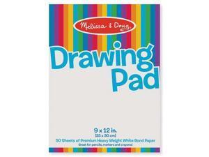 (12 Ea) Drawing Pad 9X12