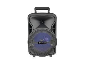 Blackmore Audio BJS-209BT 8 in. Bluetooth LED Battery Powered Speaker - 800 watt