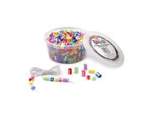 (5 Ea) Striped Straw Beads