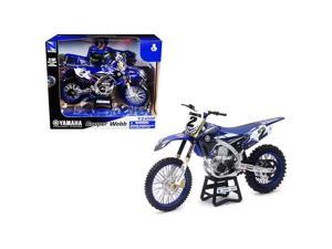 New Ray 57893 1 isto 12 Yamaha Factory Racing YZ450F No. 2 Cooper Webb Motorcycle Model