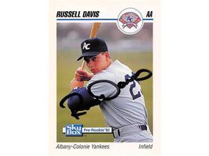 Autograph Warehouse 465606 Russell Davis Autographed Baseball Card, Albany Colonie Yankees - 1992 Skybox Pre Rookie No.2