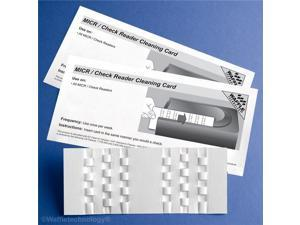Kicteam KW3-CRB15 MICR Check Reader Cleaning Card - White
