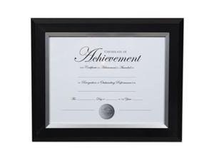 Dax Manufacturing N16984NT 8.5 x 11 in. 2 Tone Document Frame - Black & Silver