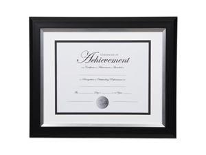 Dax Manufacturing N16984ST 11 x 14 in. 2 Tone Document Frame - Black & Silver