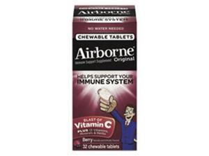 Airborne 97970 Airborne Immune Support Chewable Tablet, Berry