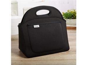 Medport 4502FFBLK Fit & Fresh Soft Rosewood Neoprene Lunch Bag, Black