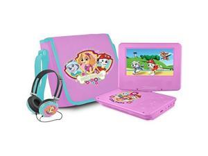 Ematic NKGR6512 7 in. Nickelodeons Paw Patrol Theme Portable DVD Player for Girls, Pink
