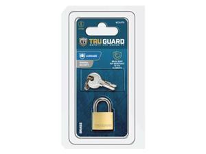 Master Lock 234970 0.75 in. Tru Guard Solid Body Brass Padlock with Long Steel Shackle
