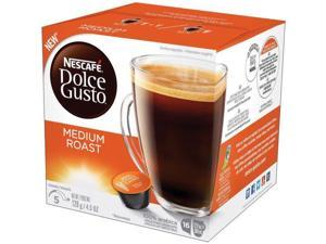 Nestle USA NES77319 Dolce Gusto Medium Roast Coffee Capsules, Brown