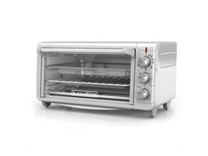 BLACK+DECKER Extra Wide Crisp 'N Bake Air Fry Toaster Oven, Stainless Steel TO3265XSSD