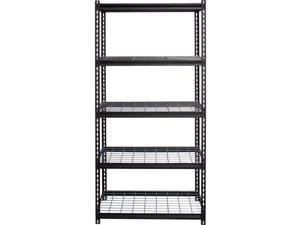 Lorell LLR99929 Wire Deck Shelving, Black - 36 x 18 x 72 in.