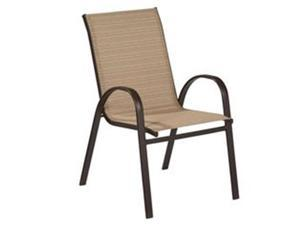 Sunjoy Group 244243 Marbella Gray Sling Stacking Chair - 36.2 x 28.7 x 21.7 in.