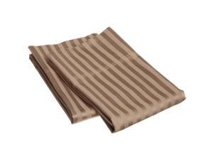 Impressions 300KGPC STTP 300 King Pillow Cases, Egyptian Cotton Stripe - Taupe