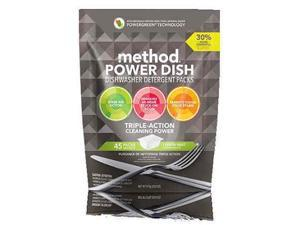 Method 01761 LEM Power Dishwasher, Lemon Mint & 45 count - pack of 6