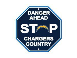Fremont Die 90548 Los Angeles Chargers Plastic Stop Sign