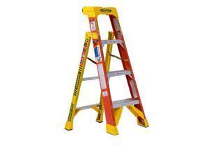 Werner - L6204 - 4' Fiberglass Leansafe Ladder w/ Plastic Tool Tray, 300 lb. Cap -