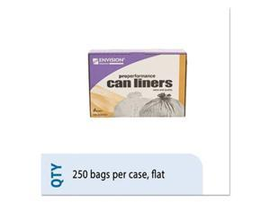 Ability One 5171349 33 gal High-Density Can Liner, Natural - 33 x 40 in. - 250 Per Case