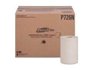 Marcal P726N 600 ft. 100 Percent Recycled Hardwound Roll Paper Towels - 12 Count