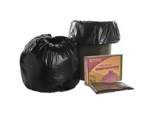 Ability One 3862290 30 x 39 in. Recycled Trash Can Liners, Black & Brown