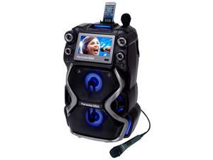 Karaoke USA GF920 Portable Professional CDG & MP3G Karaoke Player, 7 in. Color TFT Display, Record Function, Rechargable Lithium Battery & PA System