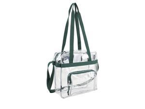 Eastsport 2315275 Clear NFL Approved Stadium Tote, Green - Case of 12 - 12 Per Pack