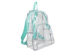 Eastsport 2303246 Clear All-Day Backpack, Turquoise - Case of 12