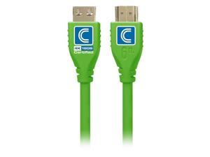 Comprehensive MHD18G-15PROGRNA MicroFlex Pro AV & IT Series 4K60 18G High Speed Active HDMI Cable with ProGrip, Green - 15 ft.