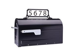 Architectural Mailboxes 5006271 Black Steel Manhattan Mailbox Name & Address Kit