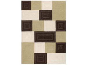 SUPER INDO NATURAL  SQUARE RIDGE Rug (size: 9.6X13) By Couristan shape:RECTANGLE