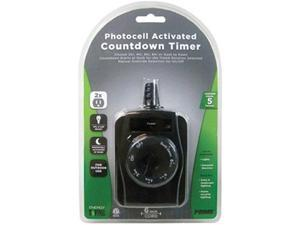 Prime Wire & Cable TNOCD002 2 Outlet Outdoor Countdown Timer with 6 in. Cord, Black