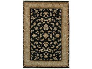 Due Process Stable Trading Madras Kenton Black & Beige Area Rug, 3 x 6 ft.