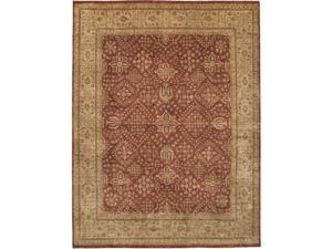 Due Process Stable Trading Khyber Joshegan Brick & Cream Area Rug, 12 x 24 ft.