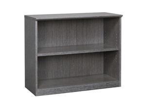 Mayline VB2CGR Veneer 2-Shelf Bookcase - Charcoal Gray