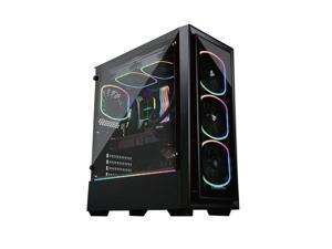 Lepatek ECA-SF30-M1BB-ARGB Addressable RGB ARGB Mid Tower Gaming PC Case Per-Installed A-RGB Fans