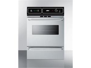 Summit TTM7212BKW 24 in. Wide Gas Wall Oven, Stainless Steel