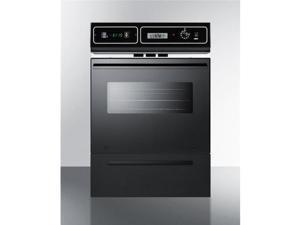 Summit Appliance TEM721DK 220V 24 in. Single Electric Wall Oven - Black Glass