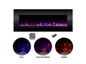 Northwest 80-2000A-54-NH 54 in. Wall Mounted Color Changing LED Fire & Ice Flames Electric Fireplace