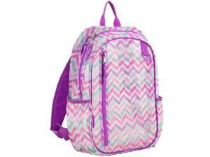 Eastsport 2326724 Mesh Active Backpack, Purple, White & Pink - 17 in. - Case of 12