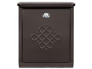 Architectural Mailboxes 2697RZ-10 Bordeaux Locking Wall Mount Mailbox - Rubbed Bronze - Medium