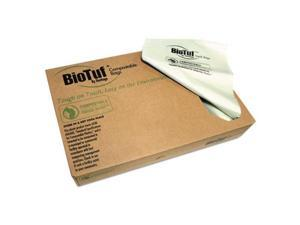 Heritage Y9460EER01 64 gal 0.8 mil Biotuf Compostable Can Liners, Light Green - 125 per Case