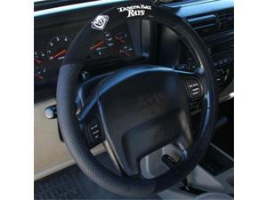 Fremont Die 68530 Poly-Suede Steering Wheel Cover - Tampa Bay Rays