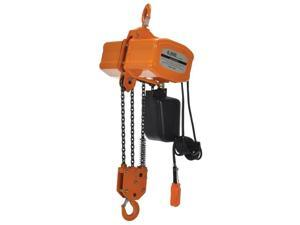 Vestil Manufacturing H-6000-1 6000 lbs 1 Phase Economy Chain Hoist with Chain Container