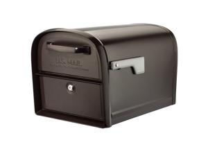 Architectural Mailboxes 6300RZ 360 deg Oasis Post Mount Locking Mailbox - Rubbed Bronze - Large