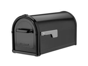 Architectural Mailboxes 5593B-SR Hillsborough Post Mount Mailbox - Black - Large